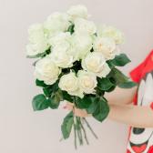 Букет из 15 белых роз 60 см (Эквадор) купить