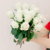 Букет из 15 белых роз (Эквадор) купить