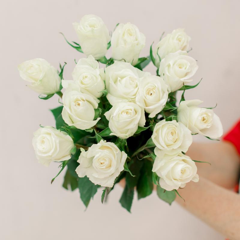 Букет из 15 белых роз (Эквадор) с доставкой