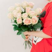 Букет из 15 розовых роз 60 см (Эквадор) купить