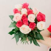 Букет из 15 роз микс (Эквадор) купить