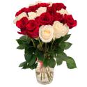 """Букет """"19 красных и белых роз"""" купить"""