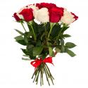 """Букет """"19 красных и белых роз"""" заказать"""