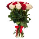 """Букет """"31 красная и белая роза"""" заказать"""