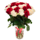 """Букет """"31 красная и белая роза"""""""