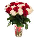 """Букет """"31 красная и белая роза"""" купить"""