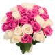 """Букет """"31 белая и розовая роза"""""""