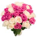 """Букет """"31 белая и розовая роза"""" купить"""