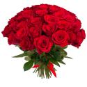 Букет из 55 красных роз Freedom (Эквадор)