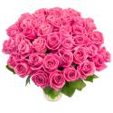 Букет из 55 розовых роз (Россия)