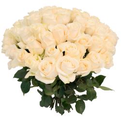 """Букет """"55 белых роз"""""""