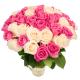 """Букет """"55 белых и розовых роз"""""""