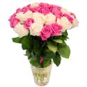 """Букет """"55 белых и розовых роз"""" купить"""