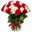 """Букет """"75 красных и белых роз"""" заказать"""