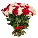 """Букет """"101 красная и белая роза"""" заказать"""