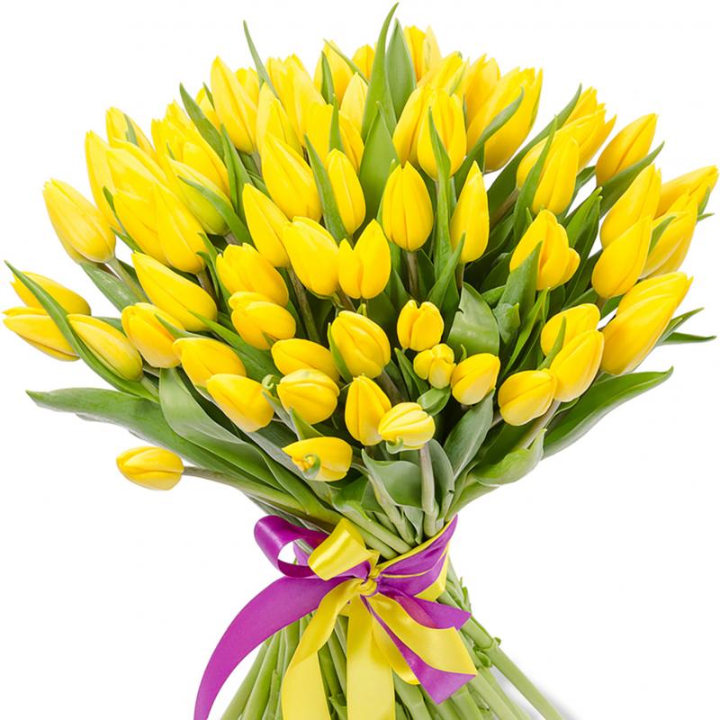 """Букет """"101 желтый тюльпан"""" с доставкой"""