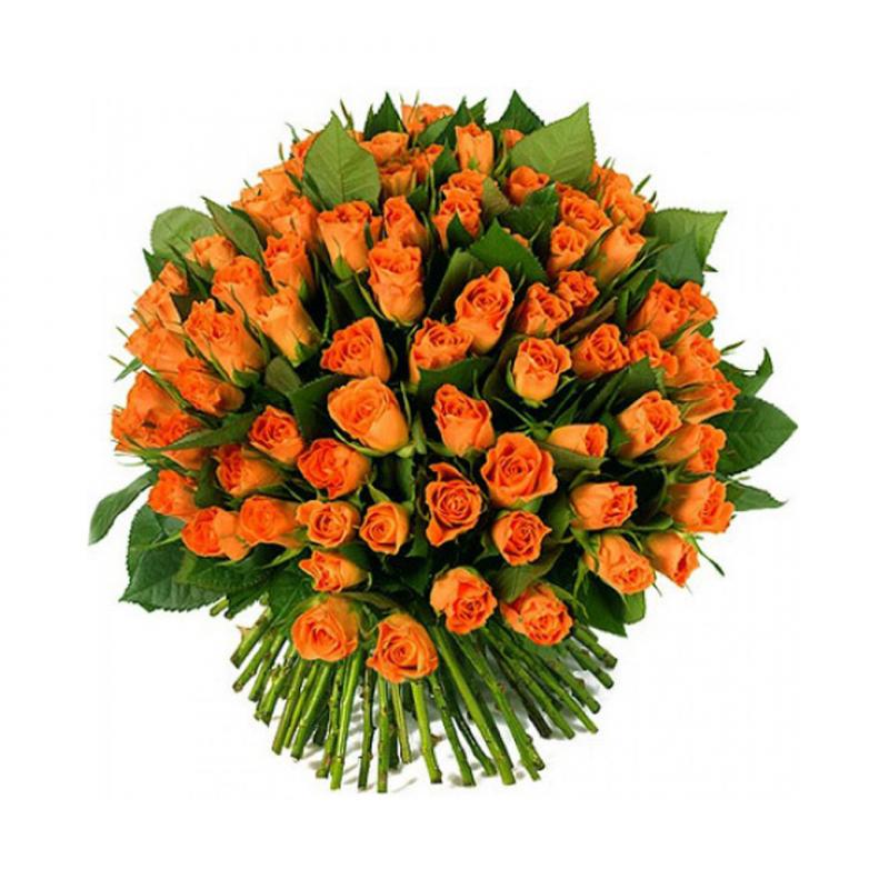 """Букет """"101 оранжевая роза"""" с доставкой"""