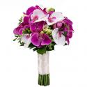 Букет невесты из фрезий и Орхидей Фаленопсис