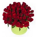 """Букет в шляпной коробке """"51 красная роза"""" с доставкой"""