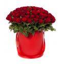 """Букет в коробке """"101 красная роза"""" с доставкой"""
