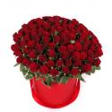 """Букет в коробке """"101 красная роза"""" купить"""
