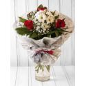 """Букет """"Фантазия"""" с эквадорской розой и хризантемой с доставкой"""