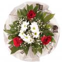"""Букет """"Фантазия"""" с эквадорской розой и хризантемой купить"""