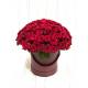 Букет в шляпной коробке 101 Российская Роза