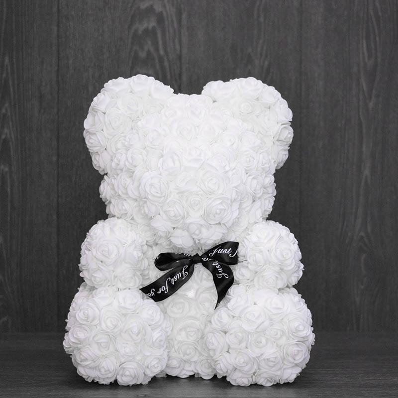 Белый медведь из роз с доставкой