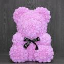 Розовый медведь из роз
