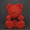 Красный медведь из роз
