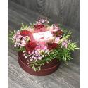 Коробка цветов с конфетами заказать