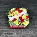 Коробка цветов с Raffaello