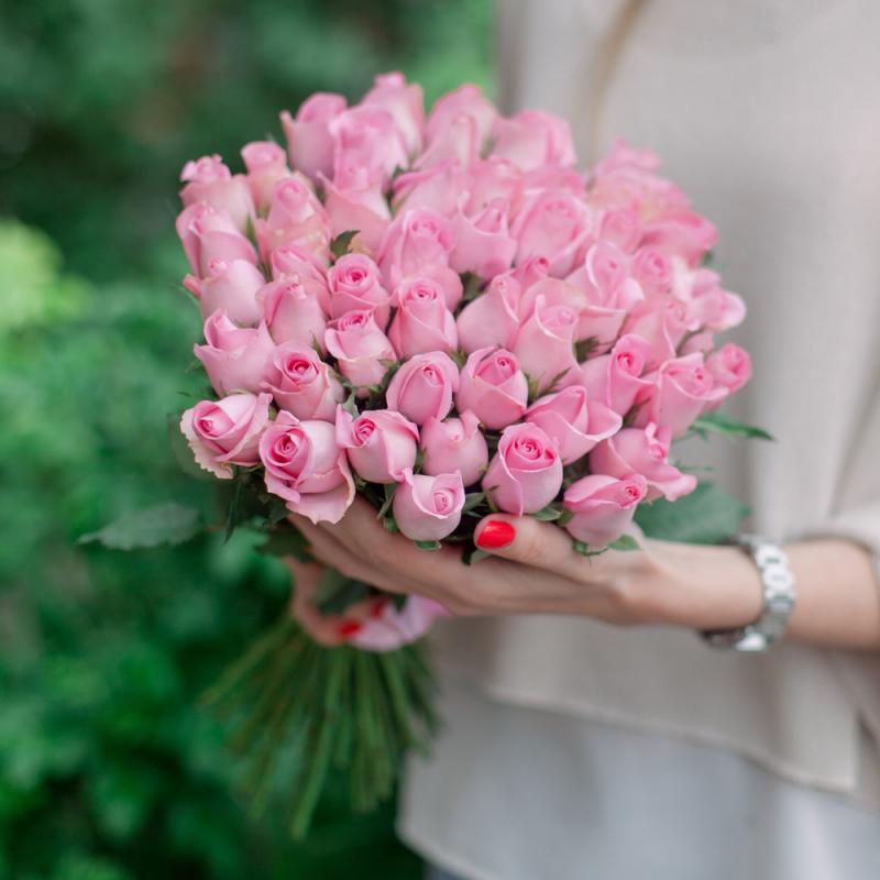 """Букет """"51 розовая роза"""" с доставкой"""
