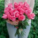 """Букет """"25 розовых роз"""" (Эквадор) купить"""
