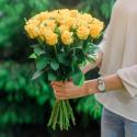 Букет из 25 жёлтых роз (Россия) купить