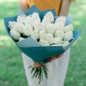 Букет из 25 крупных белых роз (Эквадор)