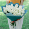 Букет из 25 белых роз (Эквадор)