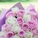 """Букет """"25 белых и розовых роз"""" заказать"""