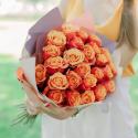 Букет из 25 оранжевых роз купить