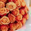 Букет из 25 оранжевых роз заказать