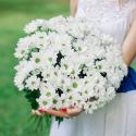 Букет из 15 белых хризантем