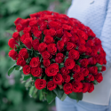 АКЦИЯ! Букет из 101 красной розы 40 см